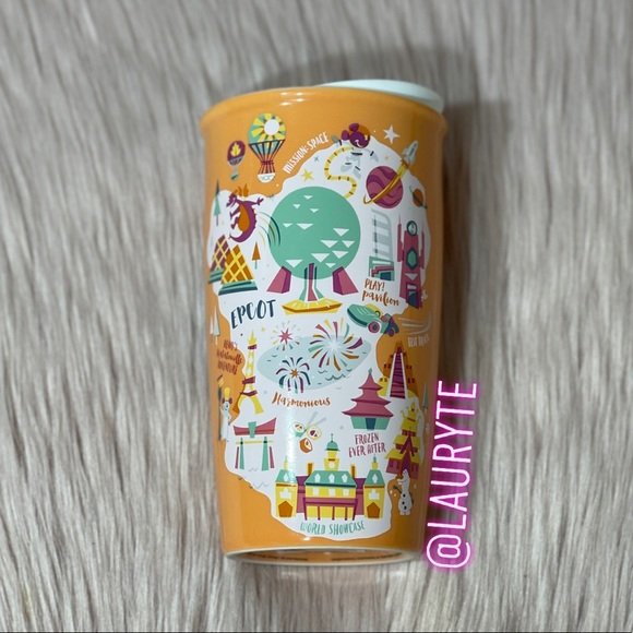 Starbucks Epcot Walt Disney World Orange Mug